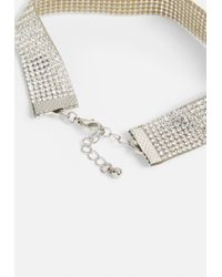 Missguided - Metallic Silver Diamante Anklets - Lyst