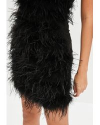 Missguided - Black All Over Feather Mini Skirt - Lyst
