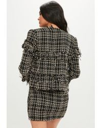 Missguided - Black Boucle Tailored Jacket - Lyst