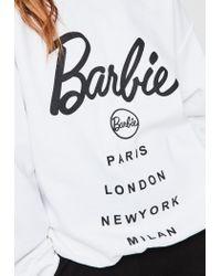 Missguided Barbie X White Barbie City Printed Sweatshirt