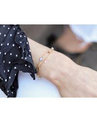Missoma - Metallic Silver Evil Eye Amulet Bracelet - Lyst