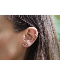 Missoma - Metallic Pave Archer Stud Earrings - Lyst