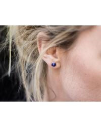 Missoma - Blue Lapis Pointed Cone Studs - Lyst