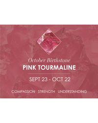 Missoma - Pink Ladies Gold October Tourmaline Birthstone Charm - Lyst