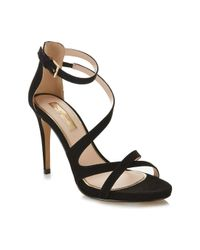 Miss Selfridge | Clover Black Strappy Sandal | Lyst