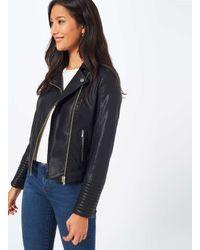 79749d453 Women's Black Elsy Faux Leather Biker Jacket
