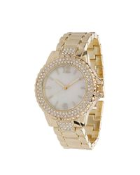 Miss Selfridge - Metallic Pearl Face Watch - Lyst
