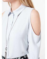 Miss Selfridge - Gray Tassel Necklace - Lyst