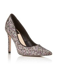 Miss Selfridge - Multicolor Glitz Glitter Court Shoes - Lyst