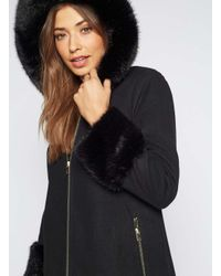 Miss Selfridge Black Luxe Duffle Coat