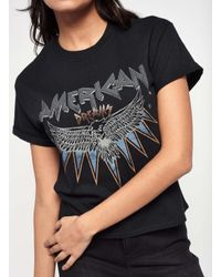 Miss Selfridge - Black American Dream T-shirt - Lyst