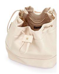 Miss Selfridge Natural Nude Slouch Bucket Bag