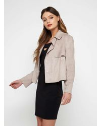 Miss Selfridge | Multicolor Mink Cropped Trench Jacket | Lyst