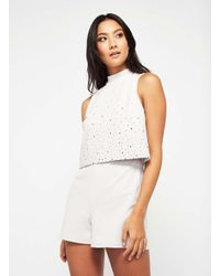 1b3a582590c Miss Selfridge. Women s Petite Embellished Playsuit