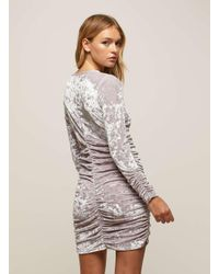 Miss Selfridge | Purple Lilac Velvet Big Sleeve Bodycon Dress | Lyst