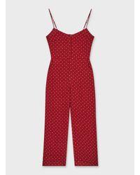 Miss Selfridge Red Petite Burgundy Jumpsuit