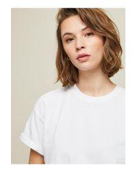 Miss Selfridge White Longline T-shirt