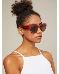 176426098a26b Miss Selfridge. Women s Quay Australia Don t Stop Red tortoise Wayfarer  Sunglasses