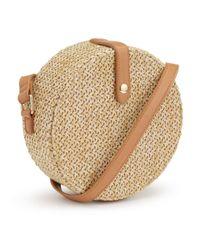Miss Selfridge Natural Circle Straw Cross Body Bag