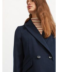 Miss Selfridge Blue Navy Military Coat