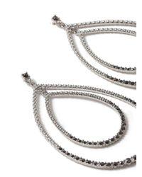 Miss Selfridge - Metallic Oval Rhinestone Earrings - Lyst