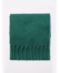Miss Selfridge - Oversized Brushed Green Scarf - Lyst