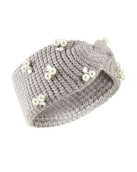 Miss Selfridge - Gray Grey Pearl Headband - Lyst