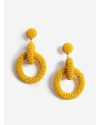 Miss Selfridge Yellow Bead Earrings