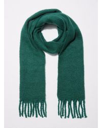 Miss Selfridge - Green Oversized Brushed Scarf - Lyst