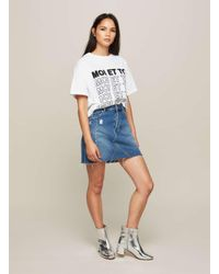 Miss Selfridge White Moi Et Toi Slogan T-shirt
