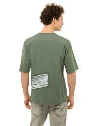 T-Shirt Stampata di Mr & Mrs Italy in Green da Uomo