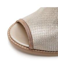 Moda In Pelle - Metallic Lirra Gold Leather - Lyst