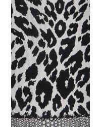 Andrew Gn Black Leopard Satin Jacquard Dress