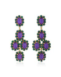 Erickson Beamon - Green Funhouse 24k Gold-plated Crystal Earrings - Lyst