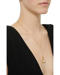 Renee Lewis - White 18k Gold Pavé Diamond Necklace - Lyst