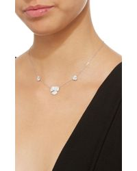 AS29 - White Triple Pave Flower Necklace - Lyst