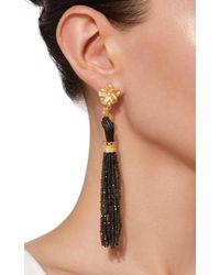 Of Rare Origin - Black Obsidian And Ebony Bloom Earrings - Lyst