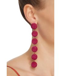 Rebecca de Ravenel | Purple Six Drop Skinny Earrings | Lyst