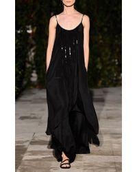 Pascal Millet Black Silk Crepe Tunic Dress