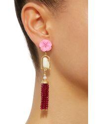 Of Rare Origin - Red Swinger 18k Gold Multi-stone Earrings - Lyst