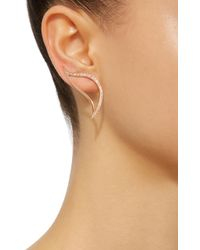 Bea Bongiasca - Metallic Heliconia Unique Crawler Leaf Earrings - Lyst