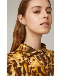 Melissa Kaye Green Aria 18k Gold, Diamond And Tsavorite Garnet Earrings