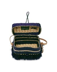 Nannacay - Blue Phiphi Striped Woven Straw Tote - Lyst