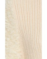 Carven - Natural Textured Sleeve Sweater - Lyst
