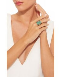 Sylva & Cie - Green Emerald Ten Table Ring - Lyst