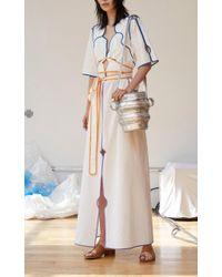 Rosie Assoulin Large Metallic Jug Bag