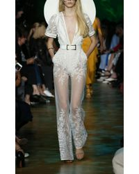 Elie Saab White Wide Legged Jumpsuit