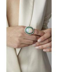 Sanjay Kasliwal - Multicolor One-of-a-kind Cabochon Opal Ring - Lyst