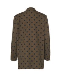 Max Mara Brown Lago Polka-dot Cotton Blazer