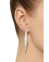 Ralph Masri - White Daimond Geometric Earrings - Lyst